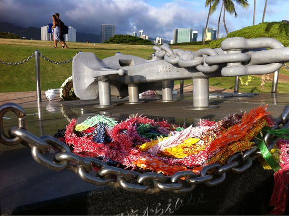 Cranes and Ehime Maru Memorial
