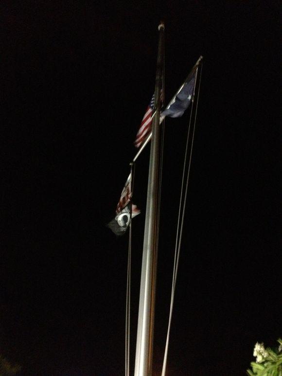 Coast Guard Ensign After Dark